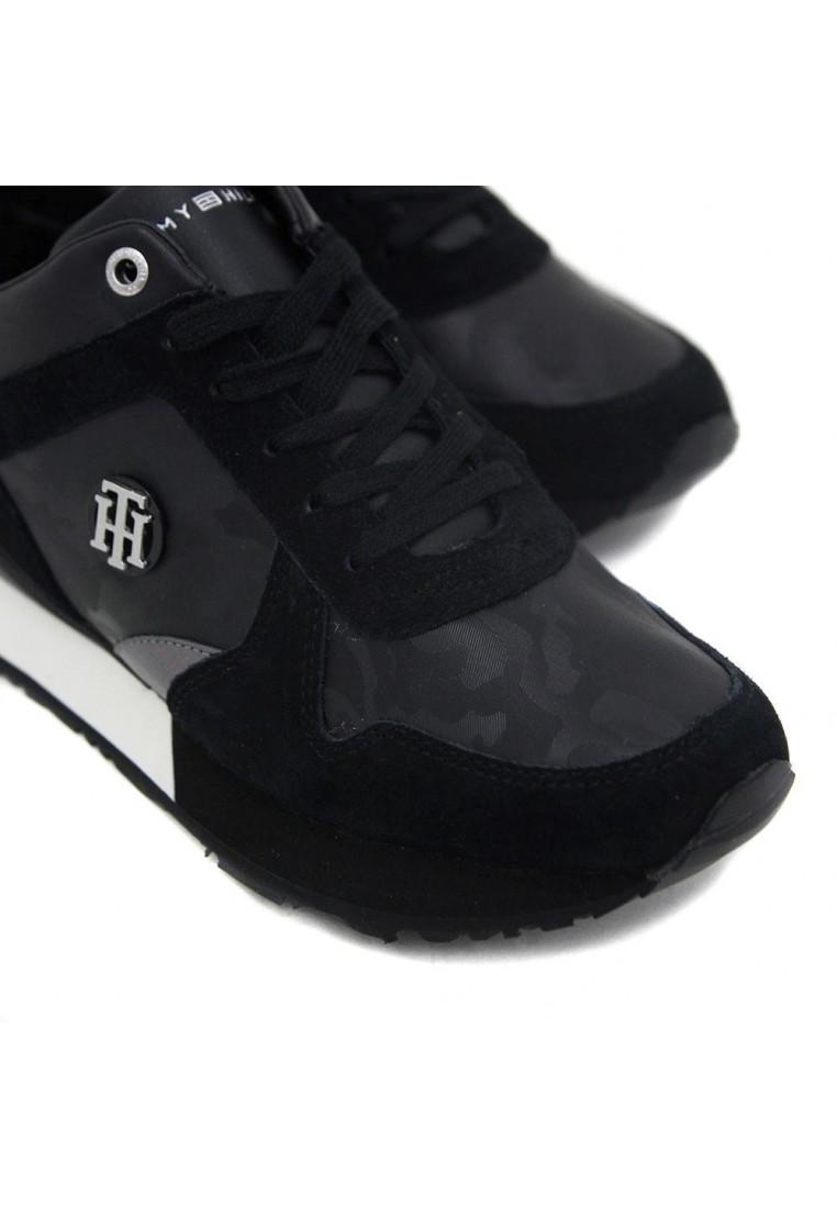 tommy-hilfiger-camo-metallic-wedge-sneaker--negro